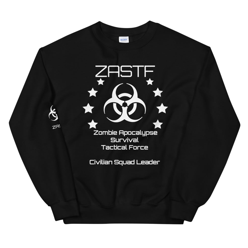 Black or Navy Zombie Apocalypse Survival Tactical Force Sweatshirt