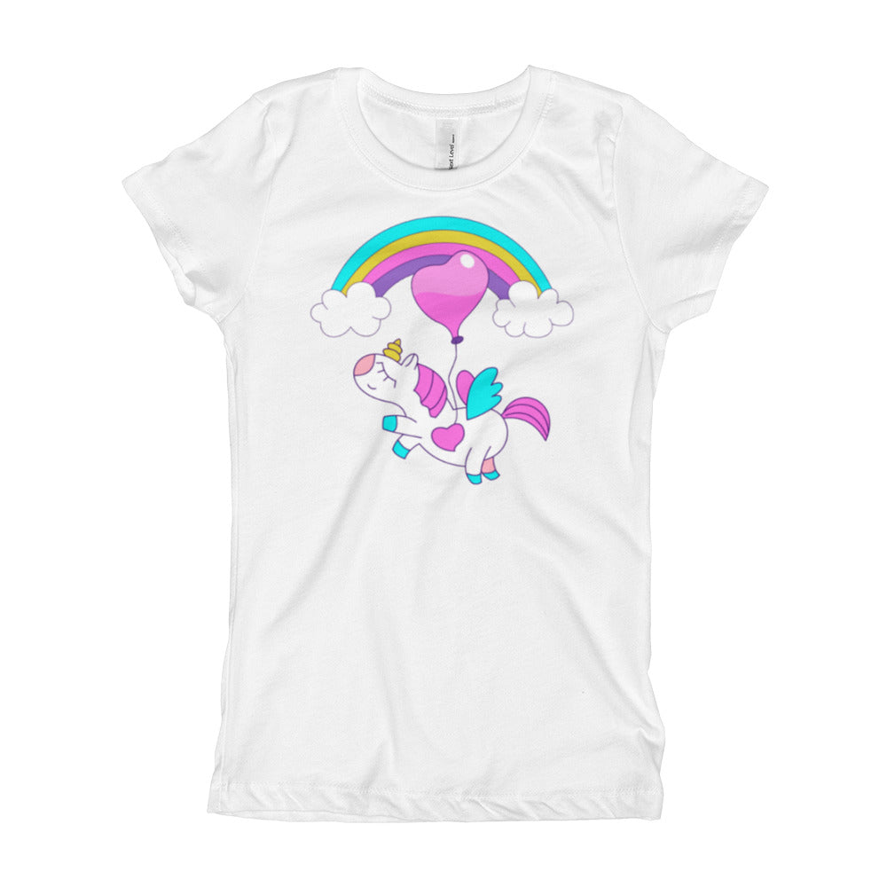 Girl's T-Shirt with Unicorn & Rainbow - Free Shipping! - TheLastWordBish.com