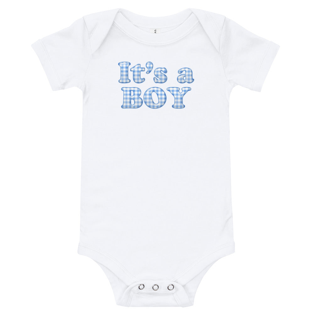 It's A Boy Baby One Piece T-shirt - TheLastWordBish.com