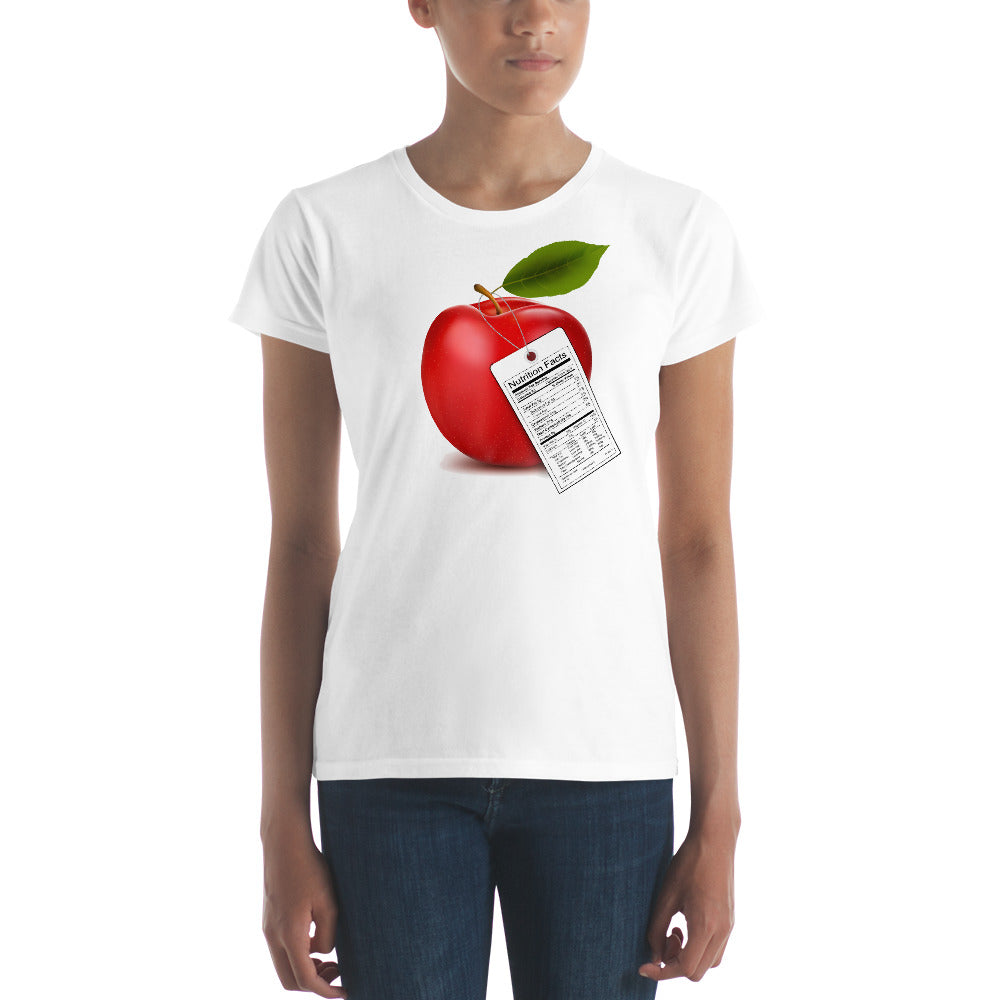 Women's T-shirt with Apple - TheLastWordBish.com
