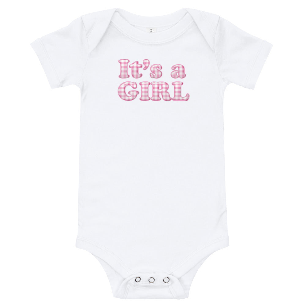 It's a Girl One Piece T-Shirt - TheLastWordBish.com