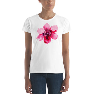 Pretty in Pink Watercolor Floral Women's  T-shirt - TheLastWordBish.com