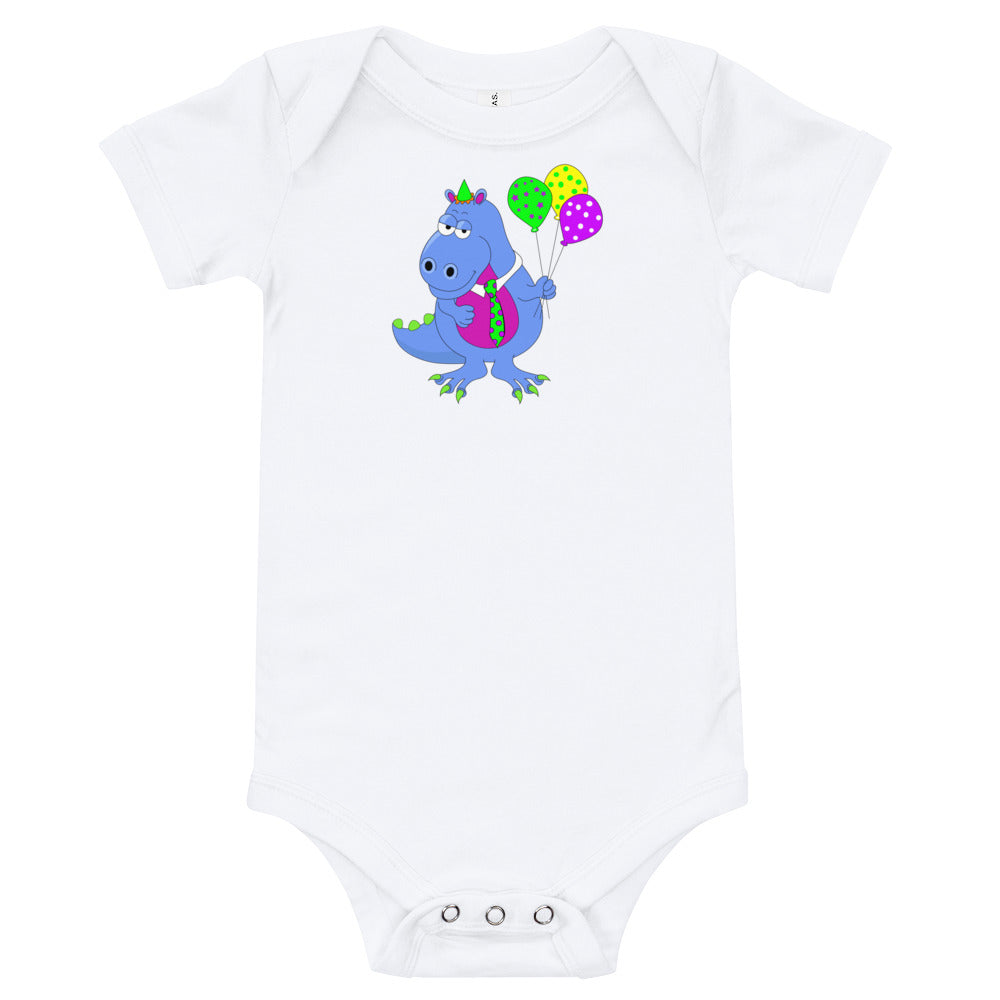 Adorable Dinosaur on Baby Onesie - Free Shipping!