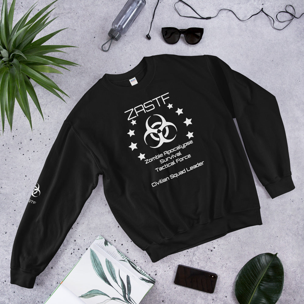 Black or Navy Zombie Apocalypse Survival Tactical Force Sweatshirt - TheLastWordBish.com