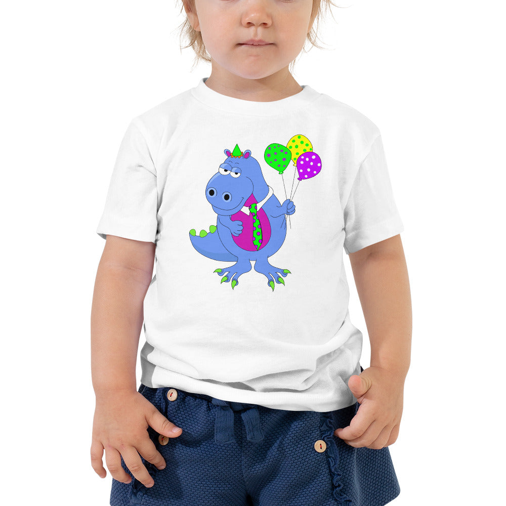 Dinosaur on Toddler Tee - FREE SHIPPING!