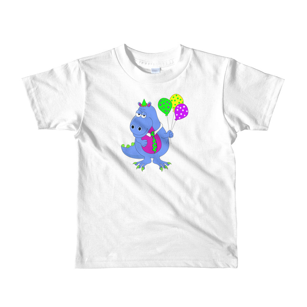 Kids Age 2-6 Unisex T-Shirt with Cute Dinosaur - TheLastWordBish.com