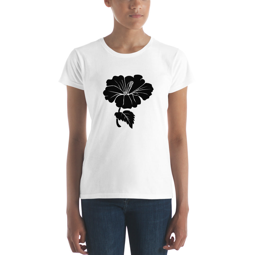 Black Hibiscus Flower Women's T-shirt - Free Shipping! - TheLastWordBish.com