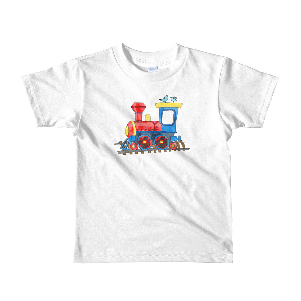 Kids Age 2-6 Unisex T-Shirt with Adorable Train - TheLastWordBish.com