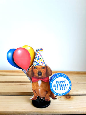 Party Dog Personalized 3D Birthday Card - TheLastWordBish.com