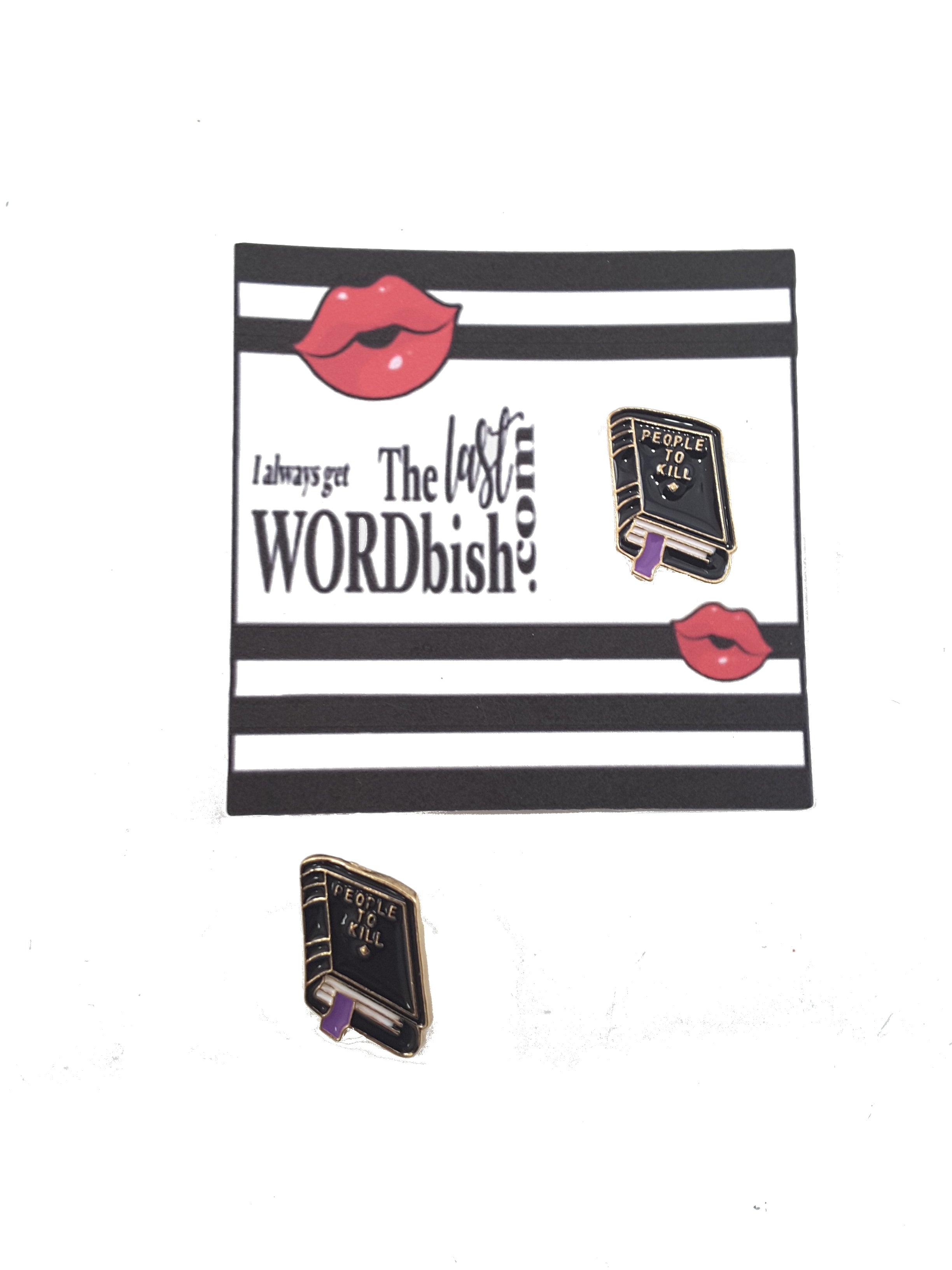 Funny Little Black Book Enamel Pin -  Free Shipping! - TheLastWordBish.com