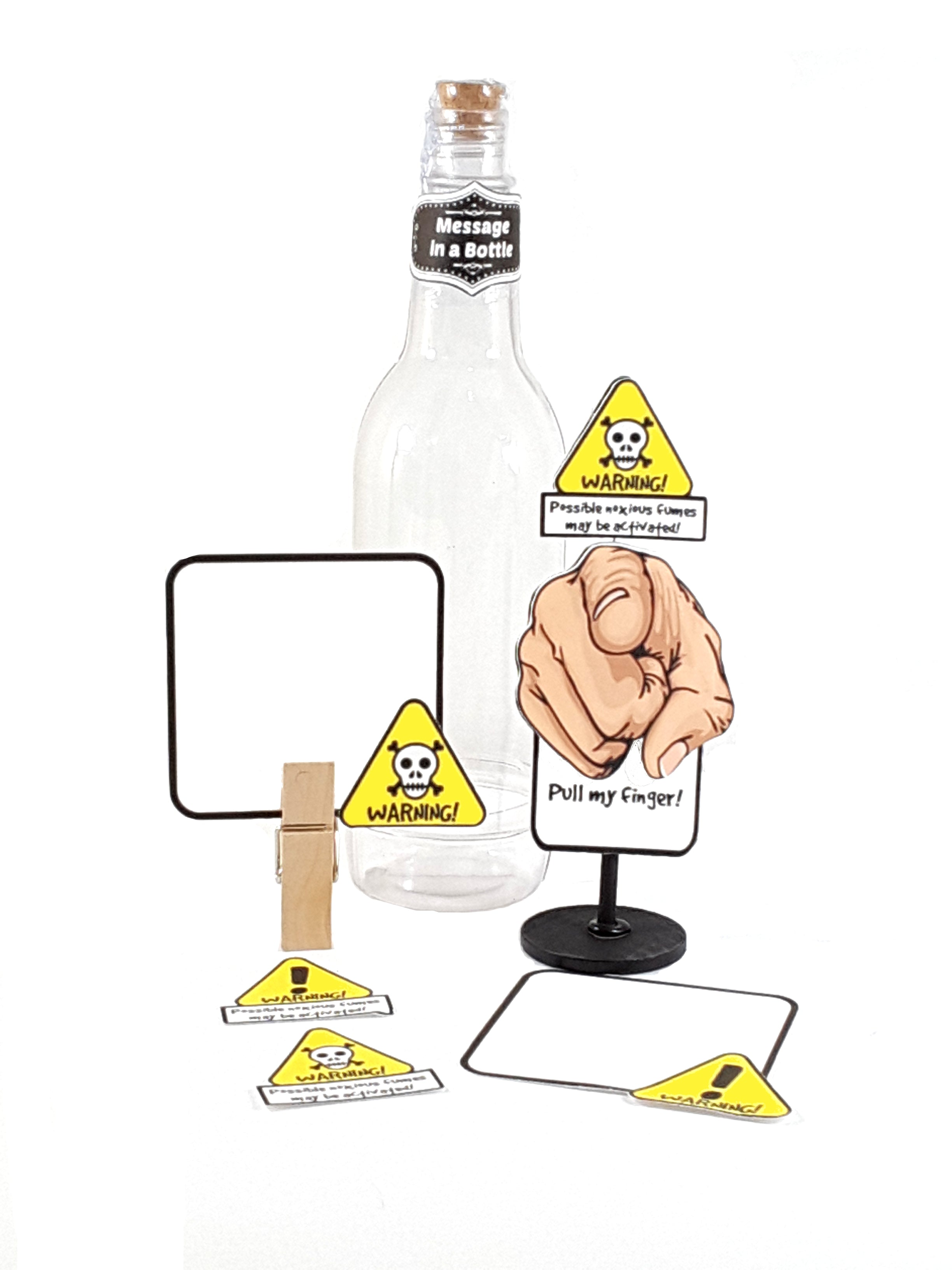 Funny Personalized Pull My Finger Stand Up All Occasion Greeting Card Message in a Bottle