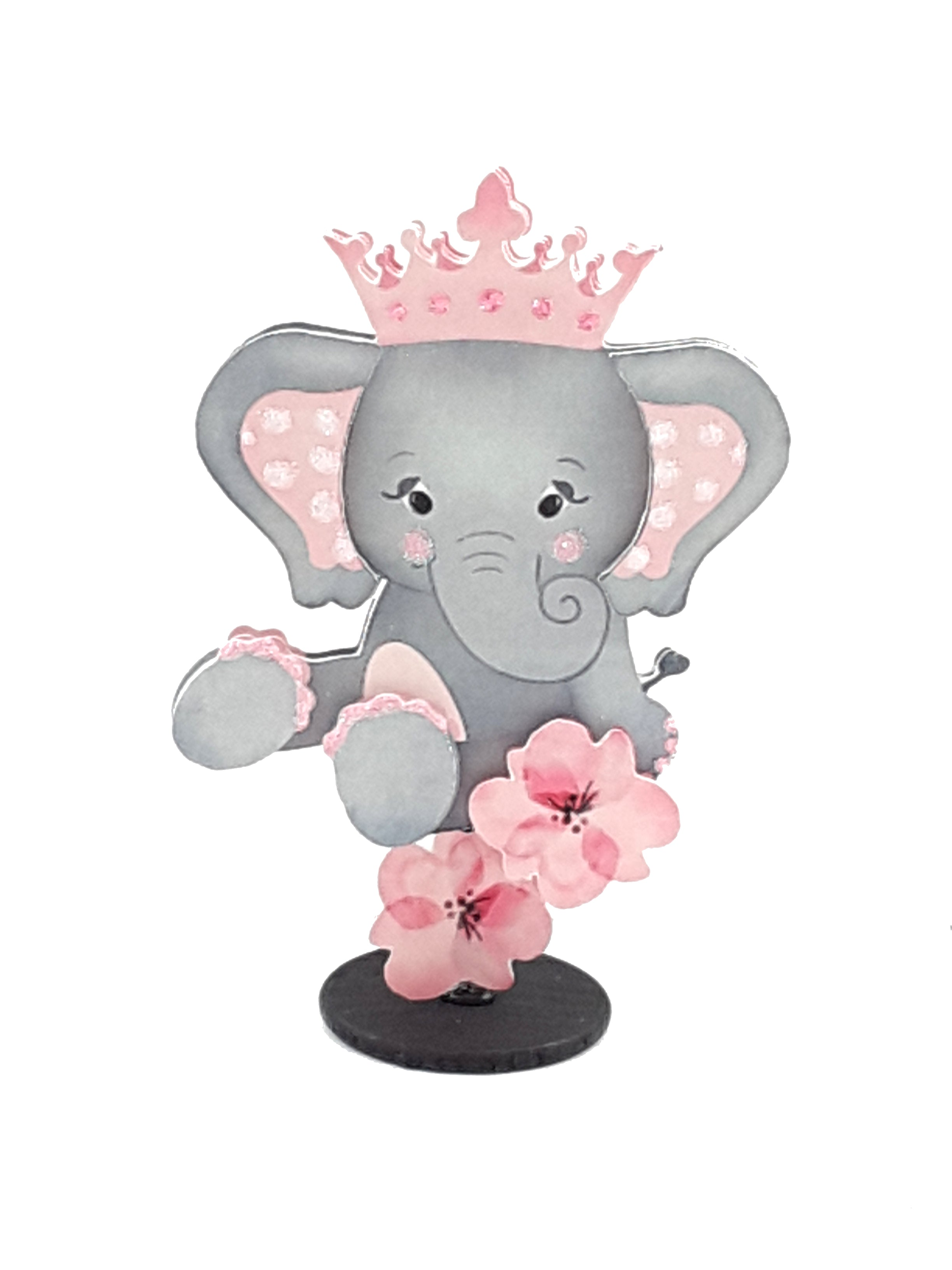 Adorable, Custom Elephant Stand-Up All-Occasion Card and Keepsake - The Last Word Bish