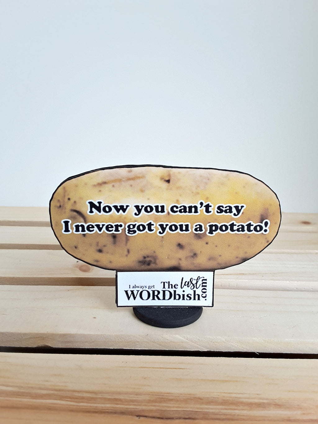 3-D potato with message