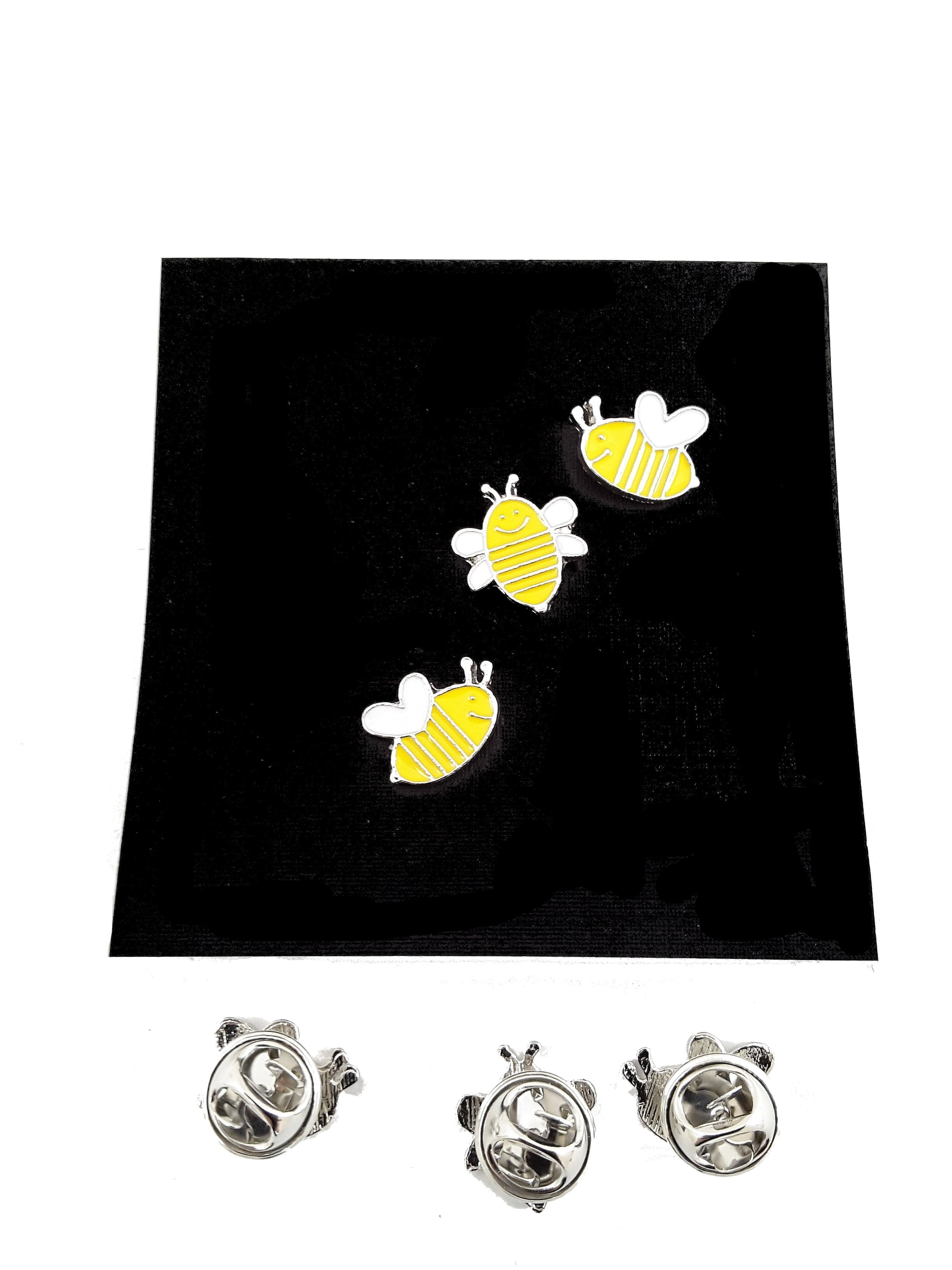 Bumble Bee Family 3-Piece Enamel Pin Set - free shipping! - TheLastWordBish.com