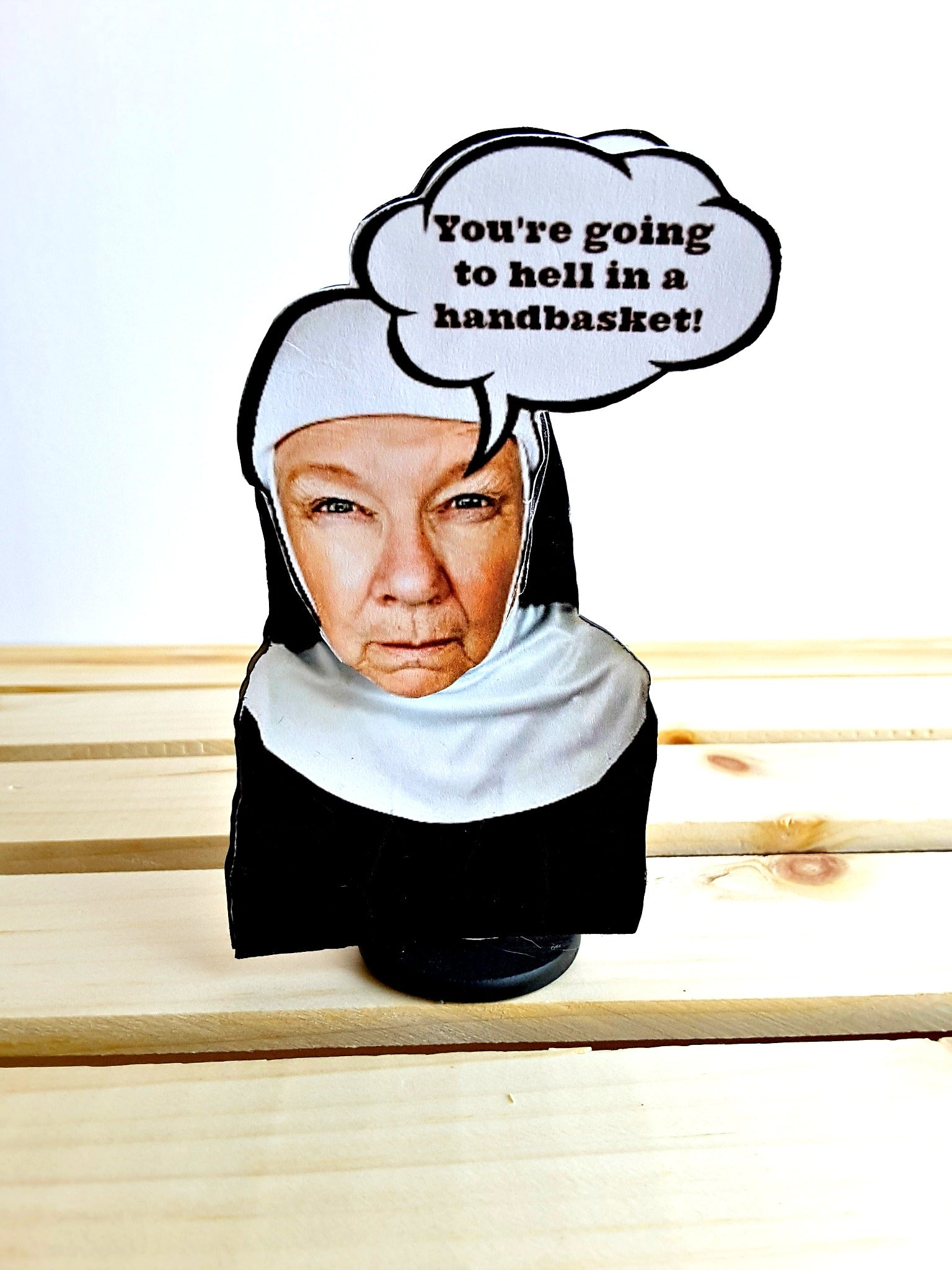 3-D sister Mary menopause card