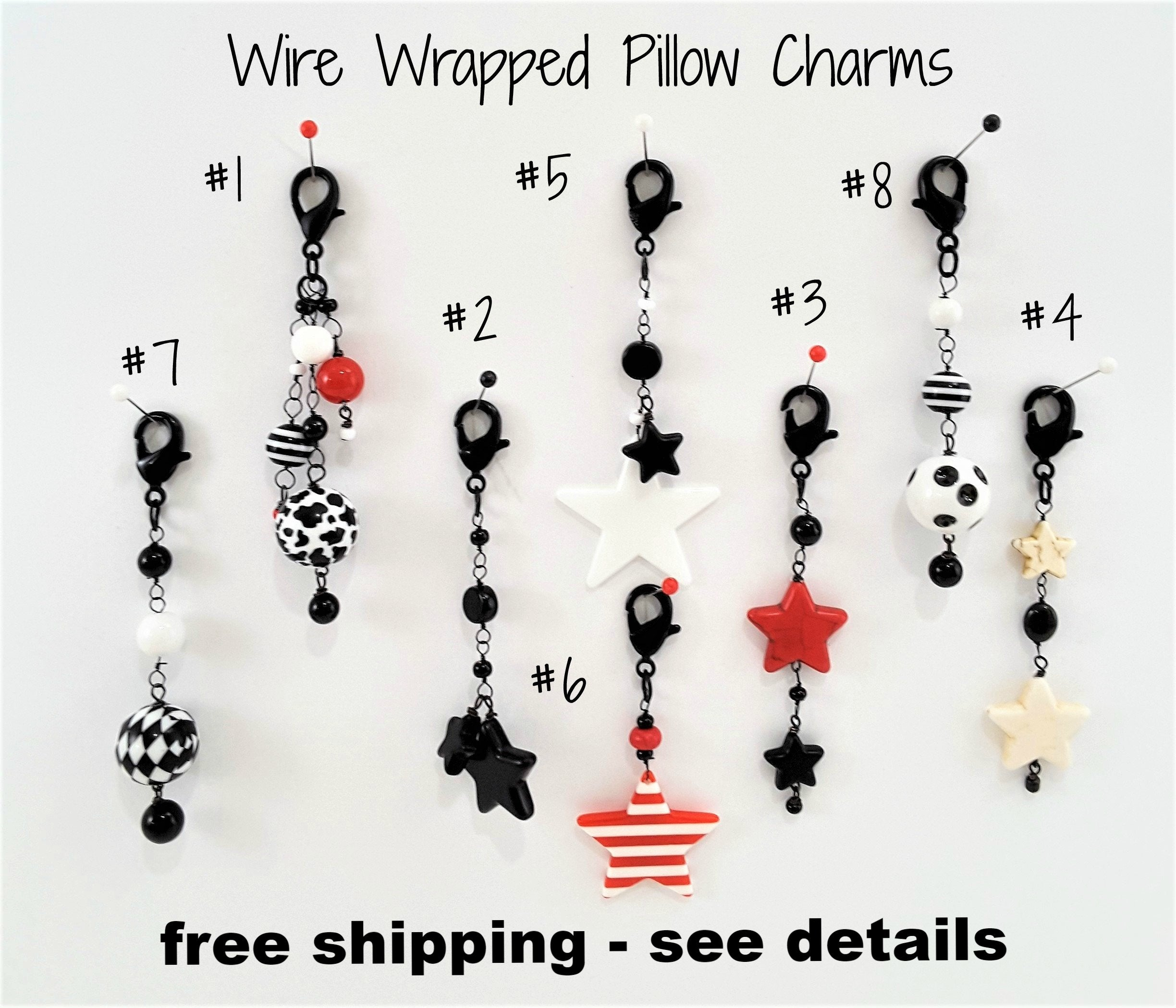 Wire-wrapped Pillow Charms #1 - TheLastWordBish.com