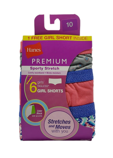 Hanes - Panties Girl Shorts (Paquete de 6)
