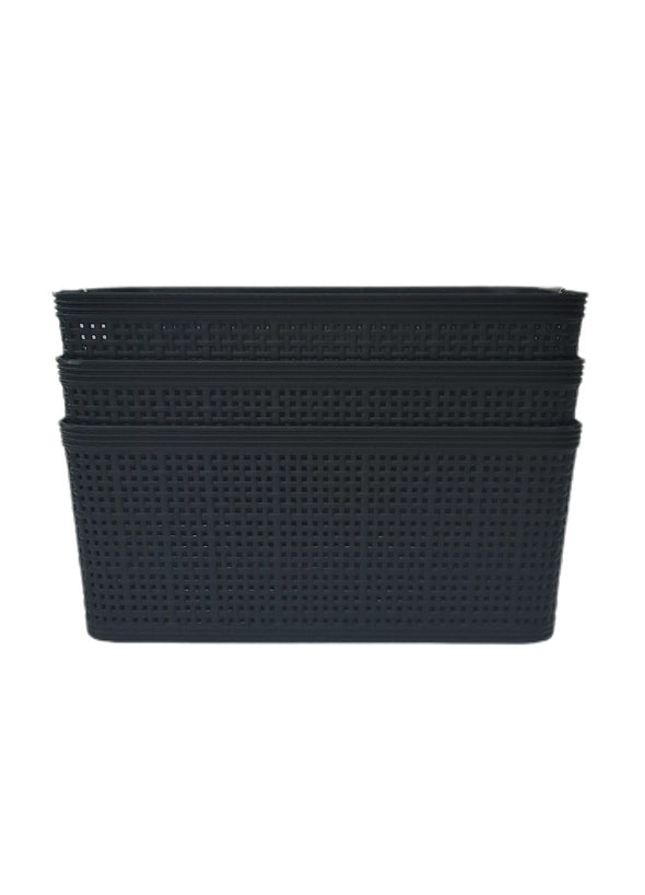 BASKET PLASTIC 3PK MEDIUM