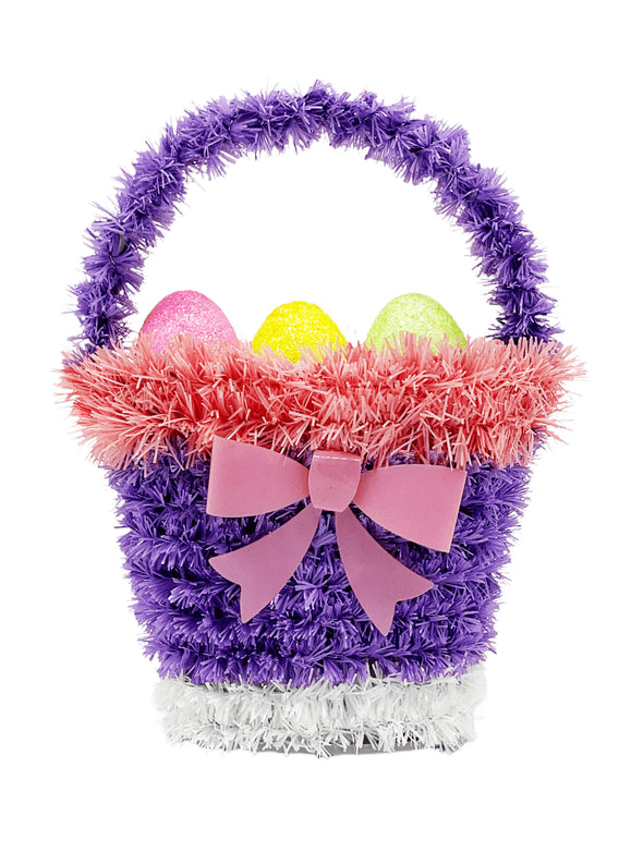 Easter tinsel 6.3 egg basket i