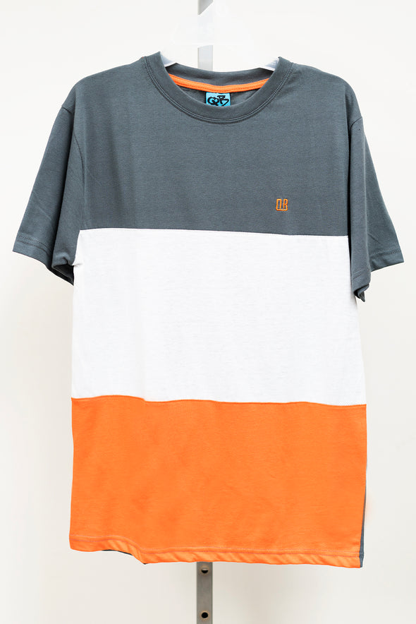 T-Shirt Caballeros (Orange/Blanco/Charcoal)