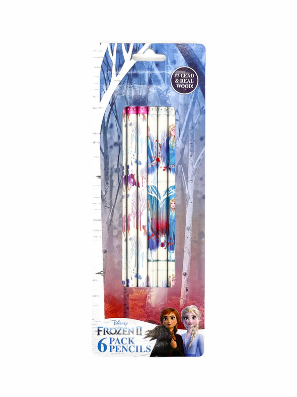 FROZEN WOOD PENCIL 6PK