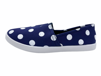 Navy & White Dots Women's Shoes