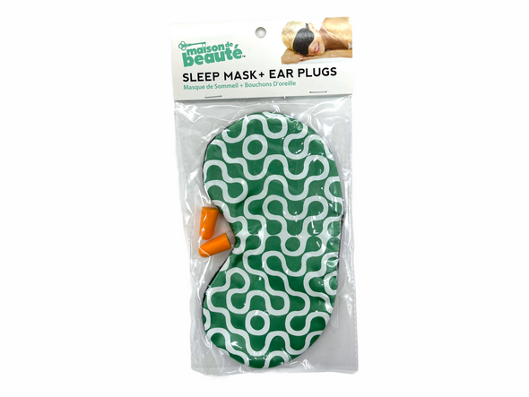 Sleep Eye Mask with Ear Plugs