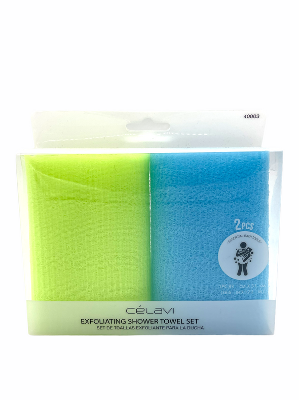 Exfoliating Shower Towel Set