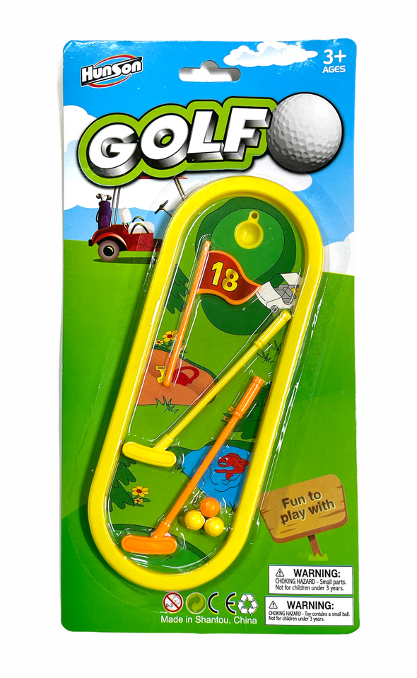 mini golf play set o acard