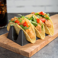 Taco Holders - 3 Pieces Includes 2 Taco Holders & 1 Salsa Molcajete Bowl
