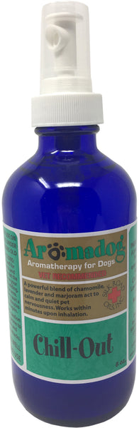 AromaDog - Chill-Out - Aromatherapy Calming Spray For Dogs - 8 oz Mist Bottle - Roman Chamomile, Lavender, & Sweet Marjoram Quickly Calms, Relaxes, & Quiets Nervous or Anxious Dogs - giftfinders