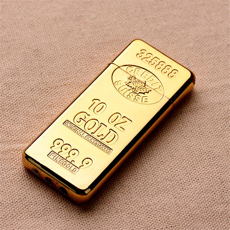 Luxury Gold Bar Lighter - Gold Bullion - Windproof/Hi-Tech
