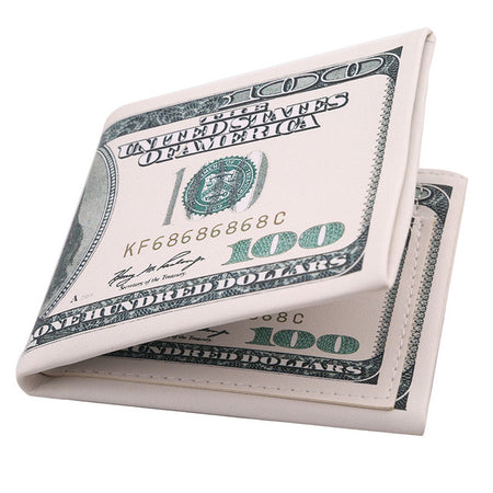 Men's Luxury 100 Dollar Bill Wallet - Leather