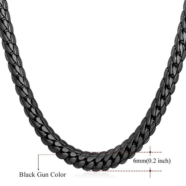 Men's Chain Gold/Gun/Silver 9MM/6MM  Hip Hop Chain Long/Choker