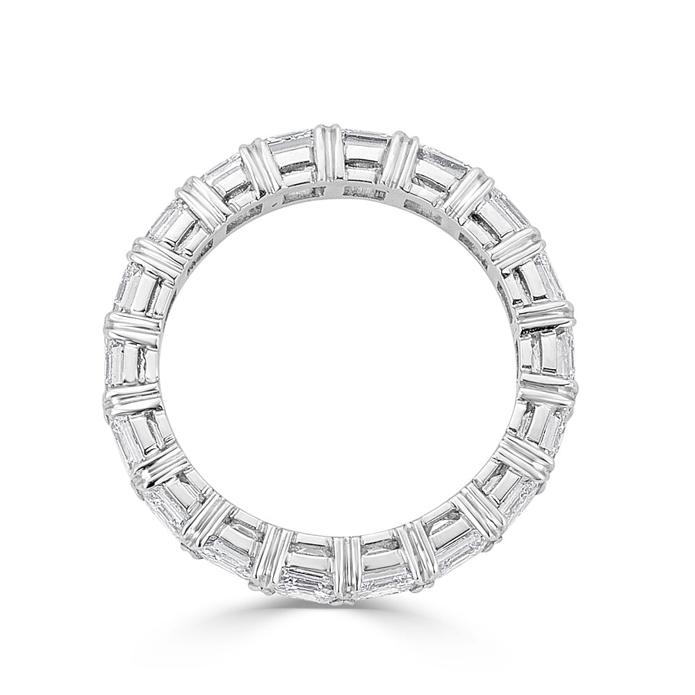 diamond cut gem eternity platinum band asscher