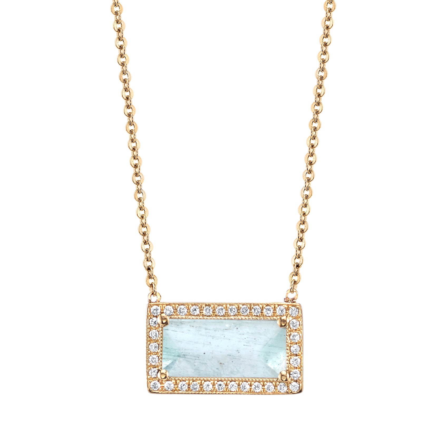 Aquamarine in Yellow Gold