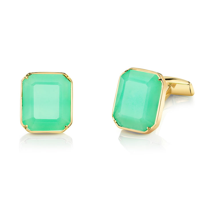 Chrysoprase Cuff Links