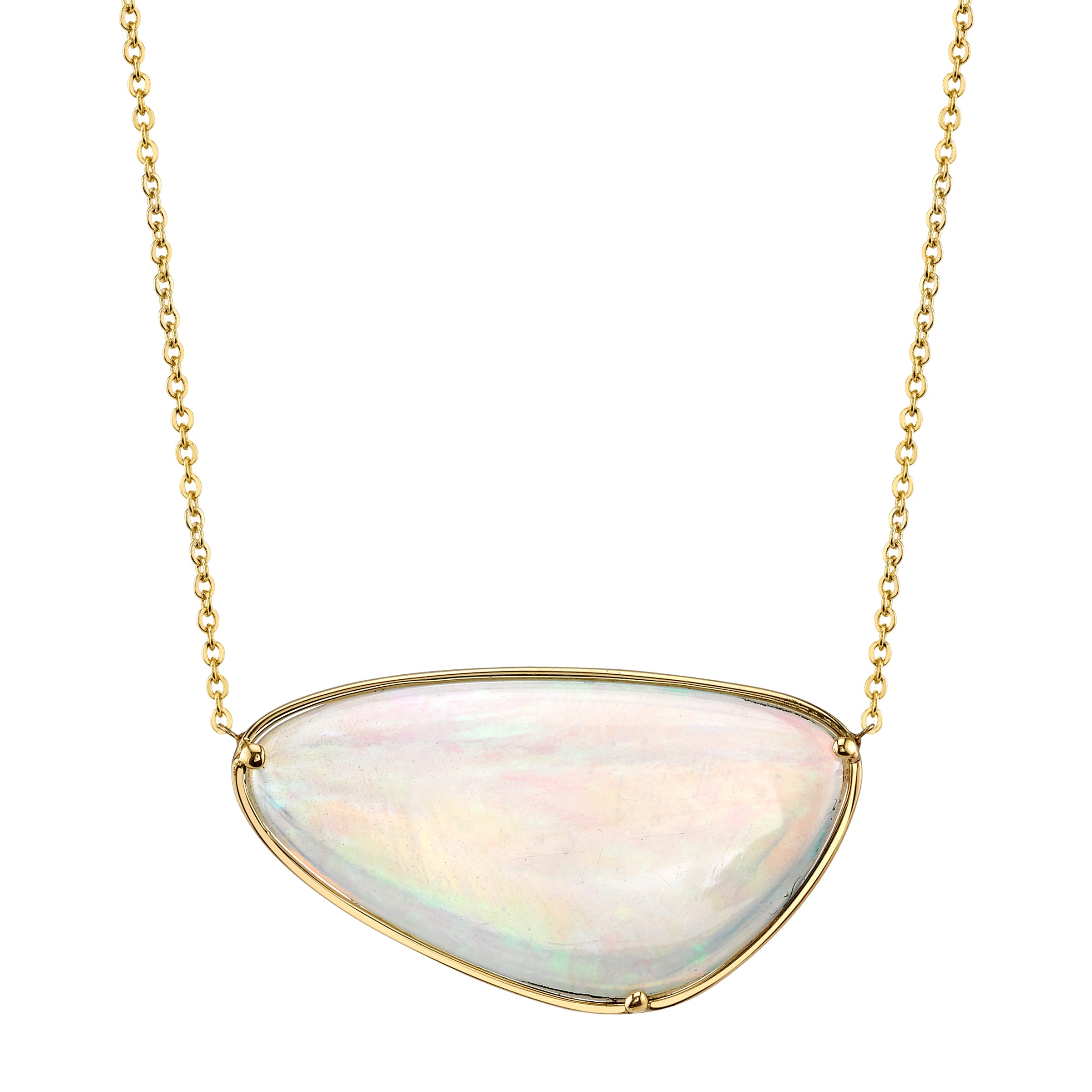 One of a Kind Opal Necklace in Yellow Gold