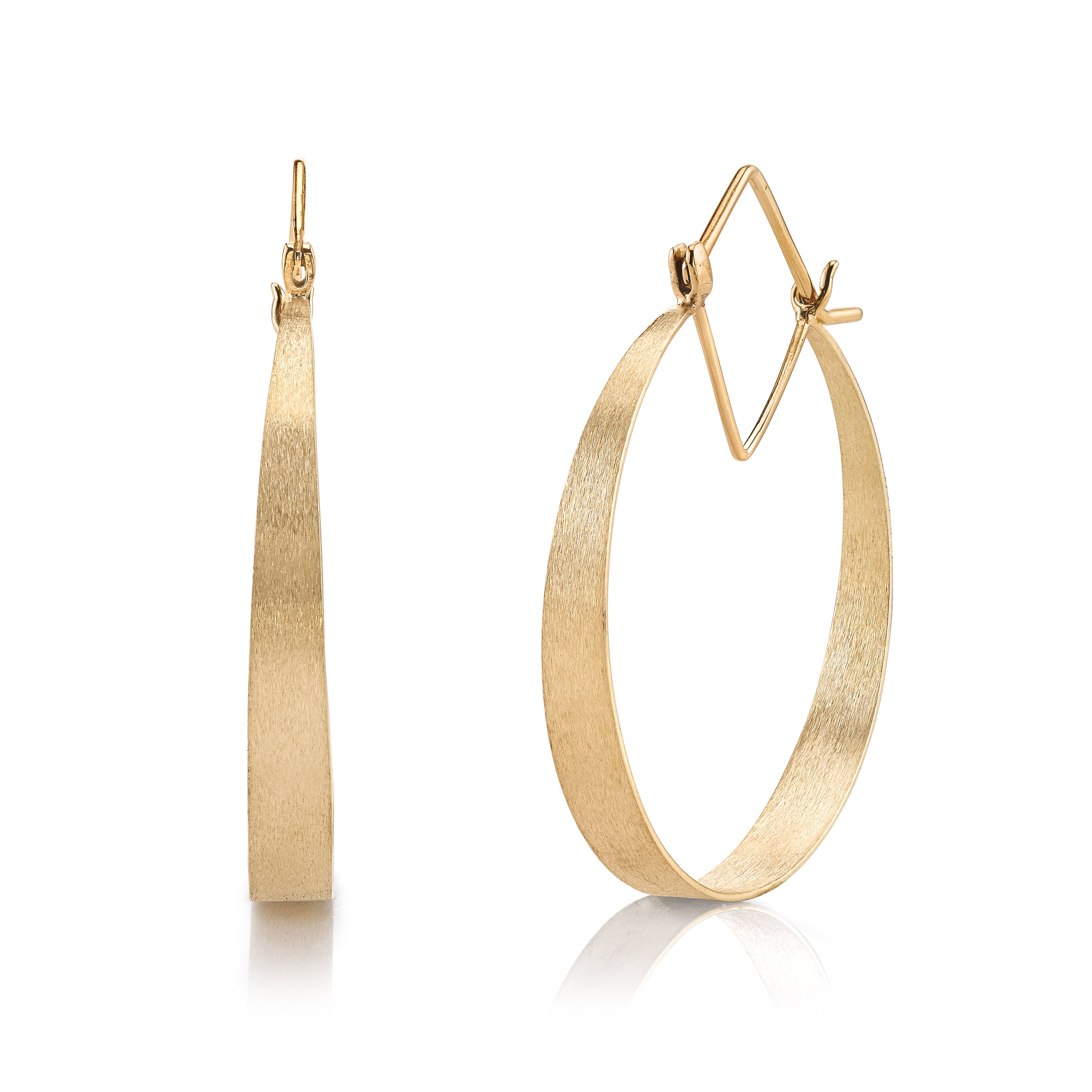 Signature Marquise Hoop Earrings