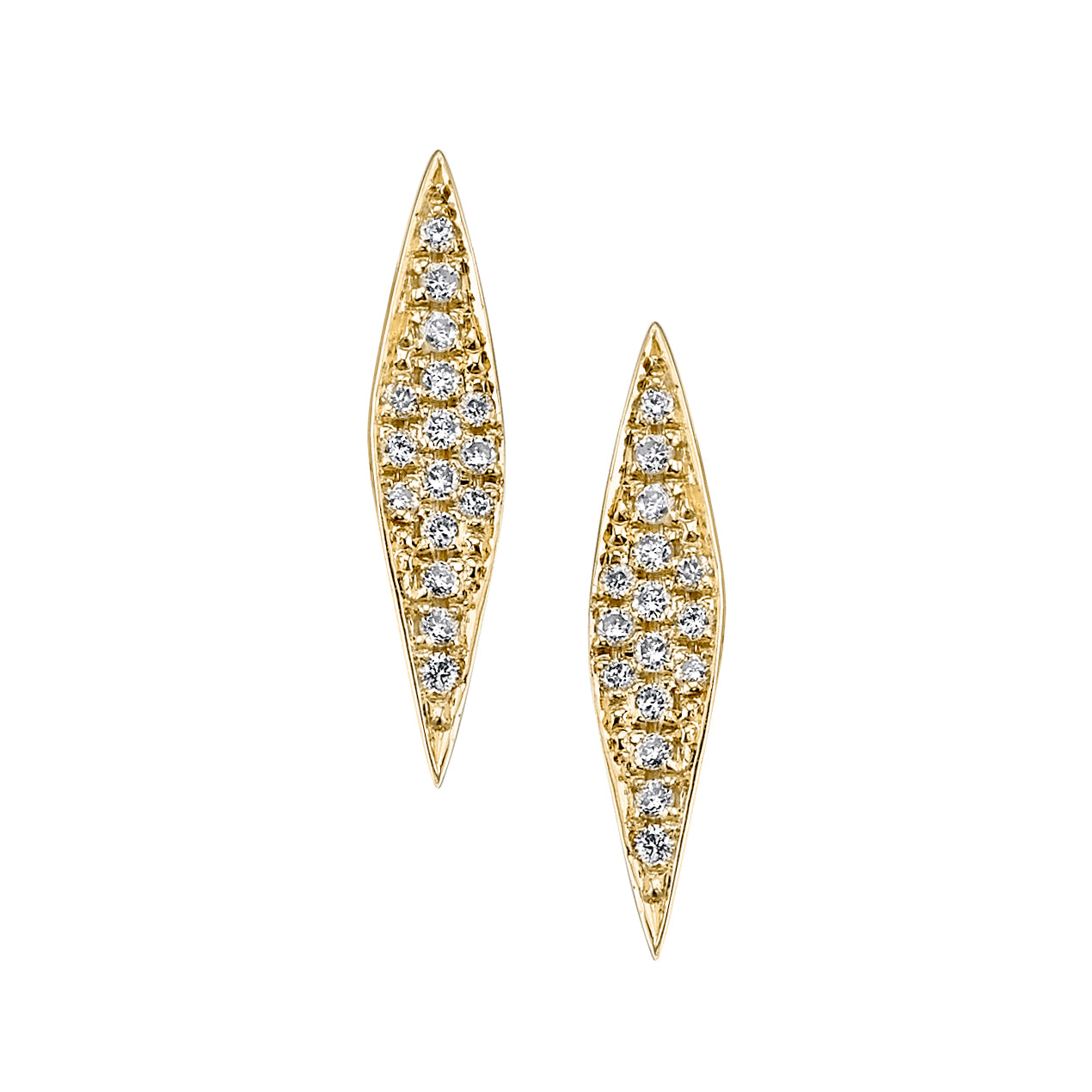 Small Signature Marquise Earrings with Diamond Pave