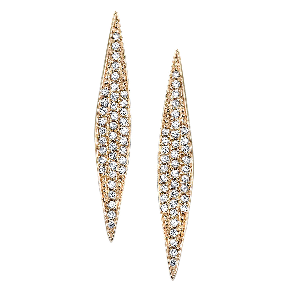 Medium Signature Marquise Earrings with Pave