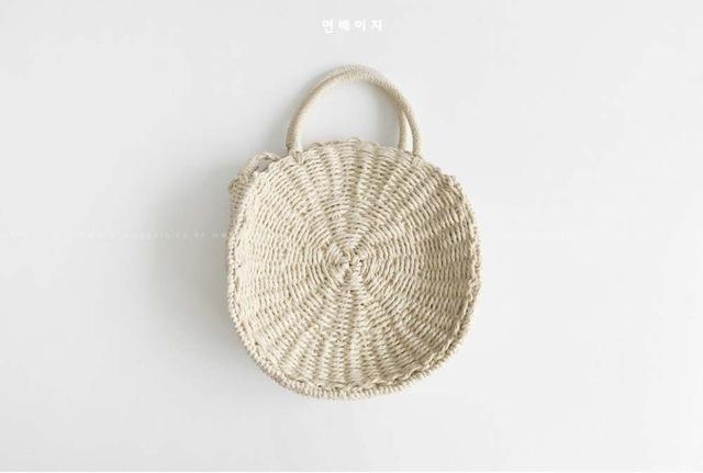 DealsChampion beige / 25.5 * 6.5 cm Ocean Fresh Handmade Rattan Beach Tote