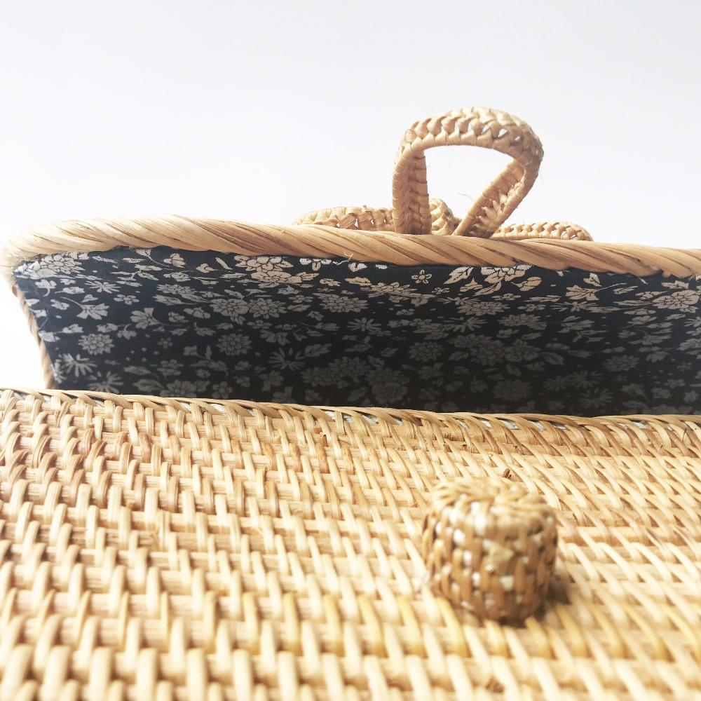 DealsChampion Handmade Bali Rattan Bag - Ata
