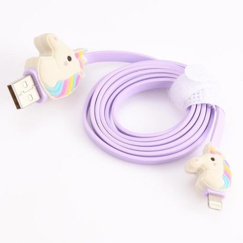 DealsChampion Purple Rainbow Unicorn USB Cable Line For Iphone And IPad