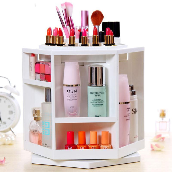DealsChampion White Smart 360 Rotating Make Up Organizer