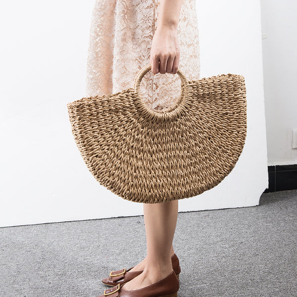 Island Escape - Handmade Rattan Beach Bag