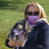 cloak and dawggie pink bandana face mask