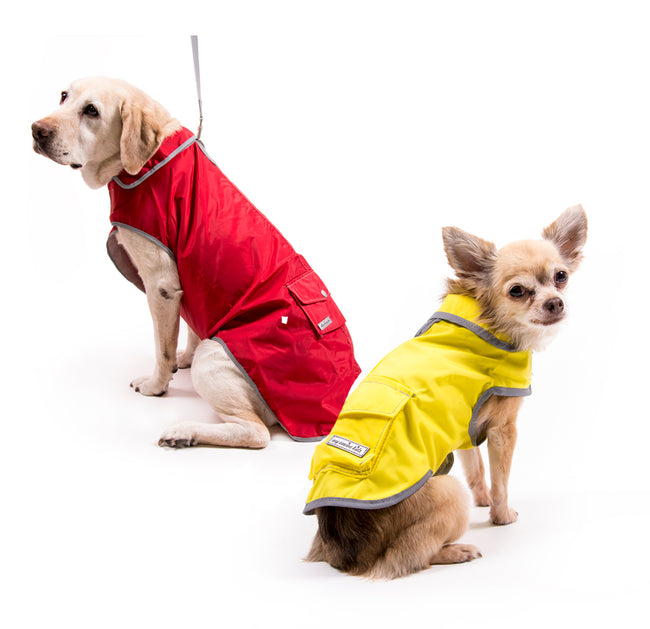 2225 Precision Fit Rain Coat Waterproof Reflective for All Size Dogs up to 120 LBS