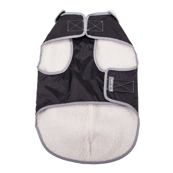 2226 USA Winter Slicker Waterproof  Reflective Fleece Lined  Dog Coat.  Small to Large Dogs
