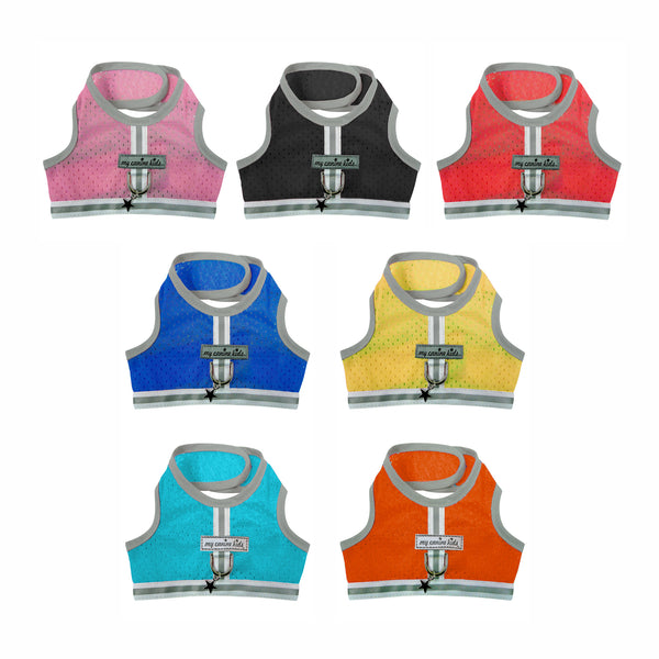 3800 Athletic Mesh Reflective Vest Harness for Teacup, Puppies and Small Breed Dogs up to 15 LBS  cloakanddawggie-mycaninekids
